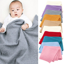 Baby Knitted Newborn Swaddle Wrap Stroller Blankets Soft Infant Bedding Quilt  Wrap Stroller Blankets Soft Infant Bedding Quilt