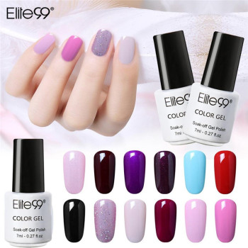 Elite99 Gel Nagellack 7ml Nagellack Vernis UV Farbe Gel Lak Top Basis Primer Gel Lack Lack UV LED Lampe Maniküre Gellak