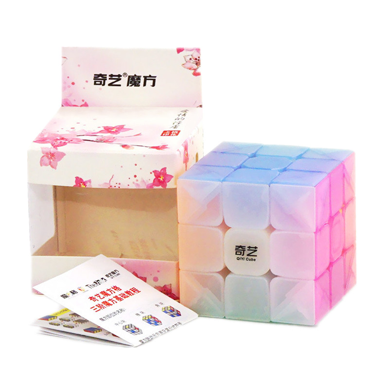 QiYi Warrior W 3x3x3 Jelly Cube Speed Cube 3X3 3Layers Speed Cube Professional Cubo Magico Puzzle Toy For Children Kids Gift Toy