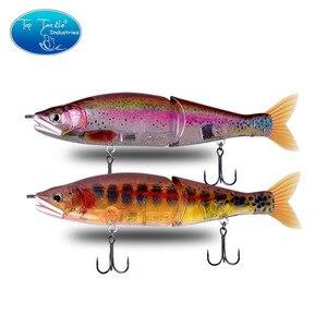 """Image 1 - 148mm 5.8 178mm 7"""" 220mm 8.7 yavaş batan tuzlu su veya yüzen tatlısu büyük bas eklemli yemler Swimbait balıkçılık Lures"""