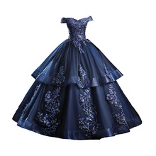 Dress Ball-Gown Quinceanera-Dresses Navy-Blue Party Gold Formal Pink Off-Shoulder New