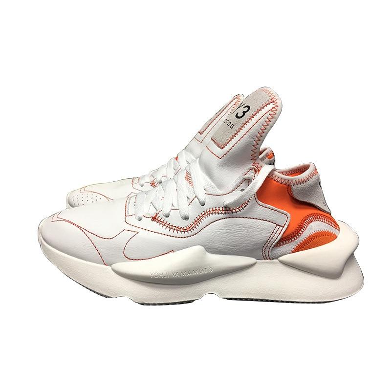 2019 mode hommes baskets en cuir véritable femmes vulcanisé chaussures unisexe respirant papa chaussures de haute qualité - 2