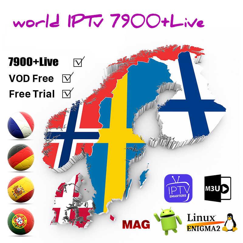 المملكة المتحدة الألمانية بولندا رومانيا أوروبا IPTV الفرنسية التركية المجر التشيكية اسبانيا الشمال HD IPTV دعم أندرويد M3U الذكية المسلسلات التلفزيونية VOD