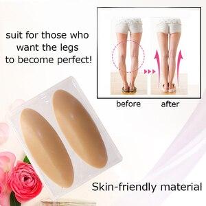 Image 2 - 1 Paar Slicone Been Kalf Pads Been Correctoren Voor Zachte Zelfklevende Voor Crooked Dunne Benen Body Beauty Corrector