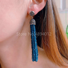5pairs,Natural StoneDangle Earrings,Fashion Jewelry,The Tassels Shape for Women,8Colors,Can Wholesale stylish coin shape tassels anklet for women