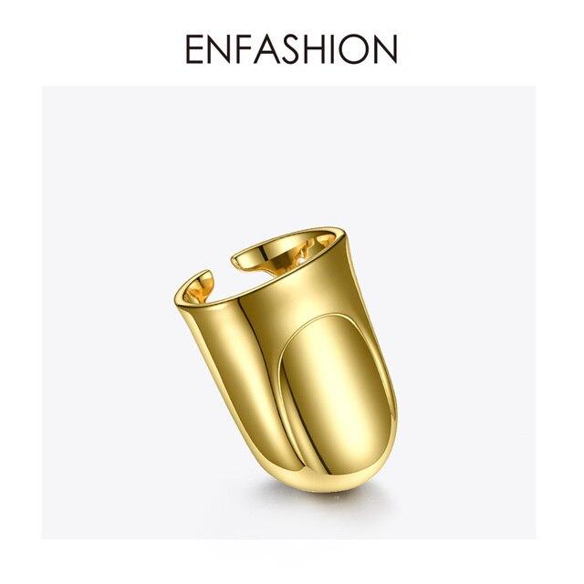 Фото женское кольцо enfashion в стиле панк на палец аксессуары золотого