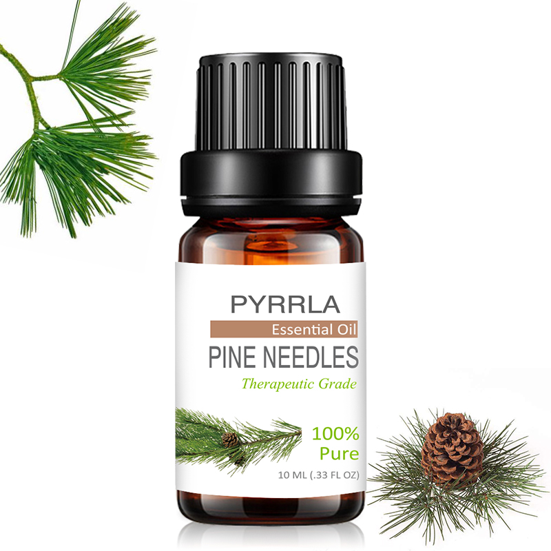 Pyrrla 10ml Pine Needles Pure Essential Oils Refreshing Aromatherapy For Purifying Air Orange Bergamot Massage Essential Oil