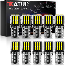 Katur 10 قطعة W5W T10 LED في Canbus لمبة لبيجو 206 406 508 307 308 406 3008 اكسسوارات السيارات الداخلية مصباح على شكل قبة مصابيح للقراءة