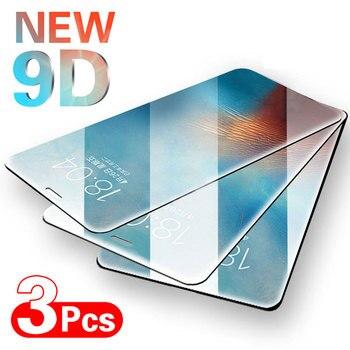 Перейти на Алиэкспресс и купить 3 шт полное покрытие Защитное стекло для iPhone SE 6 6s 7 8 Plus Закаленное стекло пленка для iPhone X XS XR 11 11 Pro Max стекло экрана