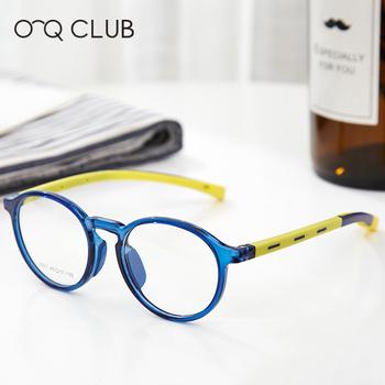 Dzieci okrągłe okulary krótkowzroczność okulary optyczne niebieskie światło 2020 ramki okularów TR90 silikonowe elastyczne ramki okularów dla dzieci tanie i dobre opinie O-Q CLUB Unisex CN (pochodzenie) Stałe 2501 FRAMES Okulary akcesoria