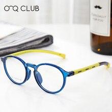Gafas redondas para niños, miopía, luz azul, monturas de gafas TR90 de silicona flexibles, monturas de gafas para niños 2501