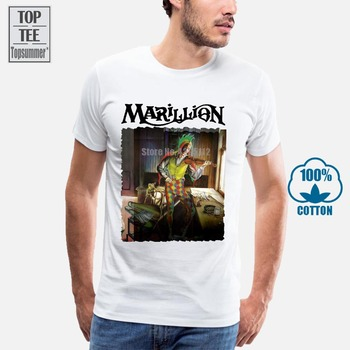 2018 Summer T Shirt Marillion Con Scritta Per Un Crew Neck Regular Short Tee Shirt For Men цена 2017