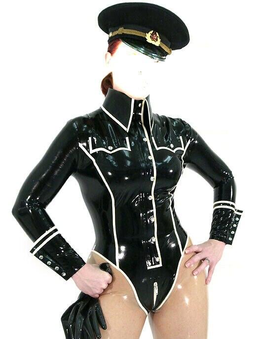 Latex Rubber Gummi Ganzanzug Anzug Catsuit Suit Gummi Anzug Polizeiuniform