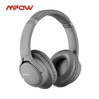 Mpow-auriculares inalámbricos H7 con cable y micrófono, dispositivo de audio por encima de la oreja, con 18h de tiempo de reproducción, controlador de 40mm, para PC, TV y teléfonos
