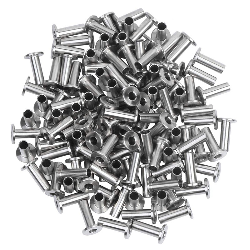 60Pcs Stainless Steel Protector Sleeves Protective Sleeves For 1/8 Inch Wire Rope Cable Railing, DIY Balustrade T316