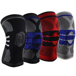 1 pcs Knee pads Protector Knee Support Professional Protective Silicone Spring Compression Protection Sport Kneepads knee brace