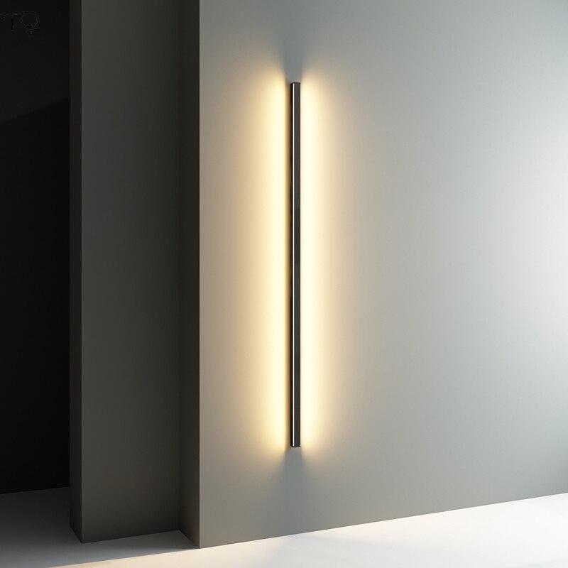 moderno e minimalista simples lampada de parede longa atmosfera sala estar fundo cabeceira quarto luz da