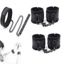 Bdsm Bondage Hand cuffs Ankle cuffs Neck Collar for Role Play,Fetish Restraints Sex Toys for Couple Adult Games Erotic Accessory(China)