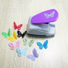 Grande borboleta buraco oco perfurador 3d forma cortador de papel crianças artesanato scrapbooking socos ferramentas diy