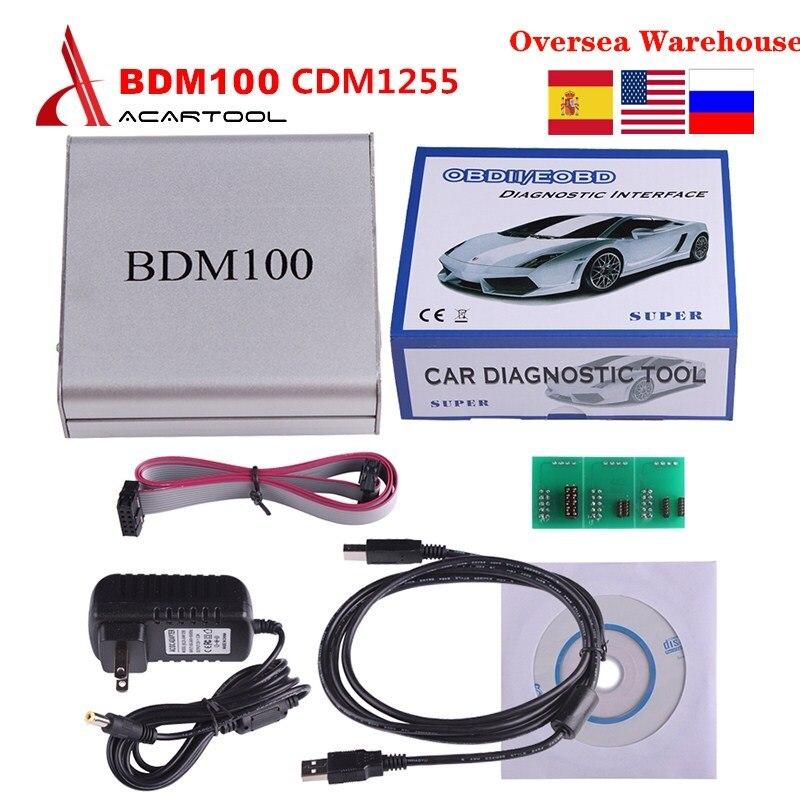 BDM100 programador de ECU herramienta de sintonización de Chip CDM1255 BDM 100 BDM marco con adaptadores OBD2 herramienta de diagnóstico automotriz envío gratis