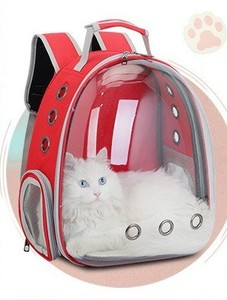 Image 2 - 2019 Beautiful Breathable Portable Pet Carrier Bag Outdoor Travel puppy cat bag Transparent Space Pet Backpack Capsule