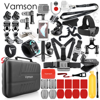 Vamson for Gopro Hero 8 Black 7 6 5 Accessories Kit Monopod Mount for DJI OSMO Action Camera for Xiaomi Yi 4K Sport Camera VS26