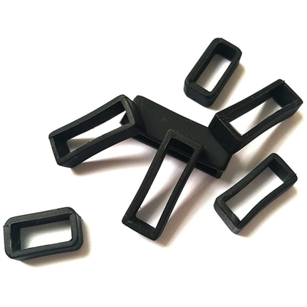 4Pc Black <font><b>12</b></font> 14 16 18 19 20 21 22 24 26 28 <font><b>mm</b></font> Watchbands <font><b>Strap</b></font> Loop Ring Silicone Rubber <font><b>Watch</b></font> Bands Accessories Holder Locker image