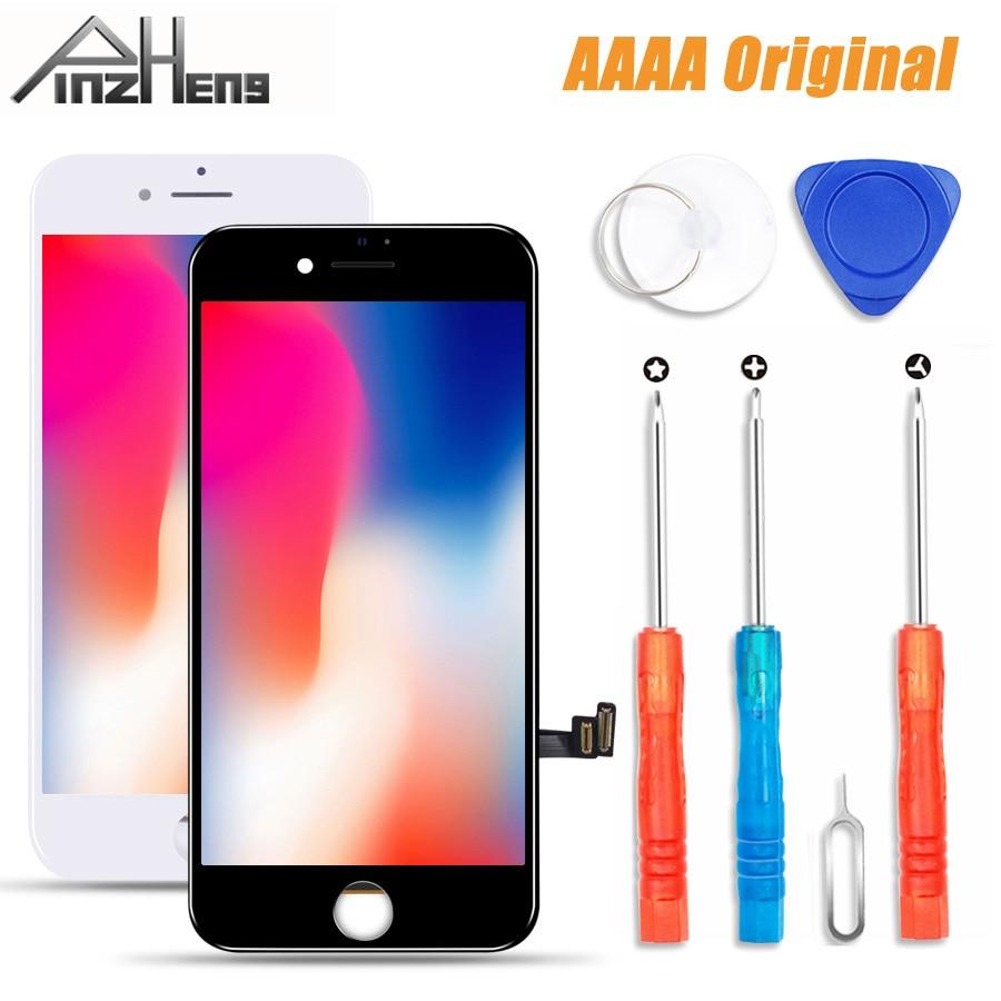 Pinzheng 100% aaaa tela lcd original para o iphone 7 mais tela lcd módulo de toque digitador 7 telas substituição lcds