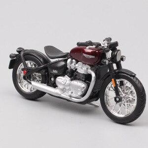 Image 5 - Bburago 1/18 1:18 ölçekli Triumph Bonneville Bobber Diecast plastik motosiklet motosiklet ekran modelleri çocuk oyuncağı erkekler için