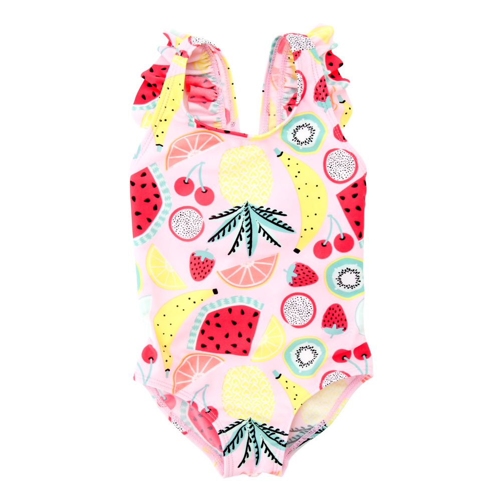 2019 New Style GIRL'S Swimsuit Fruit KID'S Swimwear Children Hot Springs Quick-Dry Onesie Baby Swim Bathing Suit