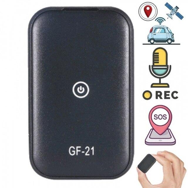 Gf21 mini gps em tempo real rastreador de carro anti perdido dispositivo de gravação de controle de voz localizador de microfone de alta definição wi fi + lbs + gps pos