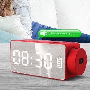 Alarm Clock Speaker Audio Mobile Phone Wireless Charger Bedside Smart Speaker Electronic Loudspeaker