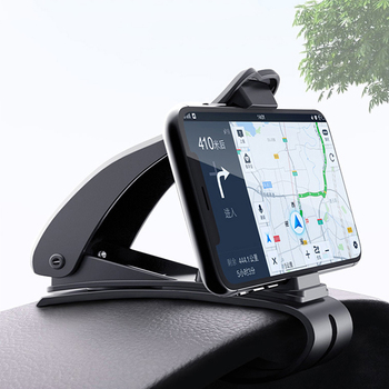 For Mobile Smart Phone GPS Stand Bracket Universal Car Phone Holder Adjustable Dashboard Mount Clip For iphone 6 6s 7 8 Plus image