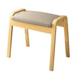 Taburete de tocador, taburete moderno y conciso para maquillaje, silla de madera sólida para dormitorio, silla de tocador para el hogar del norte de Europa