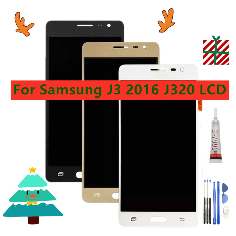 NEW <font><b>LCD</b></font> For <font><b>Samsung</b></font> Galaxy J3 2016 J320 <font><b>LCD</b></font> Display Touch Screen J320F <font><b>J320FN</b></font> J320H J320M J3 <font><b>LCD</b></font> FOR <font><b>SAMSUNG</b></font> <font><b>SM</b></font>-<font><b>J320FN</b></font>/F/M/H/DS image