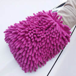 Двухсторонние синели перчатки для мытья автомобиля впитывают воду и деконтаминат несъемный коралловый инструмент для автомойки