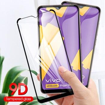 Перейти на Алиэкспресс и купить 9D закаленное стекло для Vivo Y11 2019 Y19 S5 полное покрытие HD 9H пленка стекло для Vivo V17 V17 pro V17 Neo Защитная пленка для экрана телефона