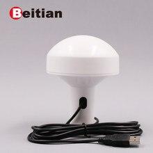 Beitian usb 2.0 interface 2.0 medidores auto-adaptados taxa de transmissão 4 m flash 5.0 v usb nível gps receptor BS-572U