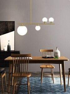 Image 3 - Moderne Eenvoudige Zwart/Golden Led Hanglamp Aluminium Glazen Bal Opknoping Lamp Voor Nordic Eetkamer Woonkamer Slaapkamer Armaturen