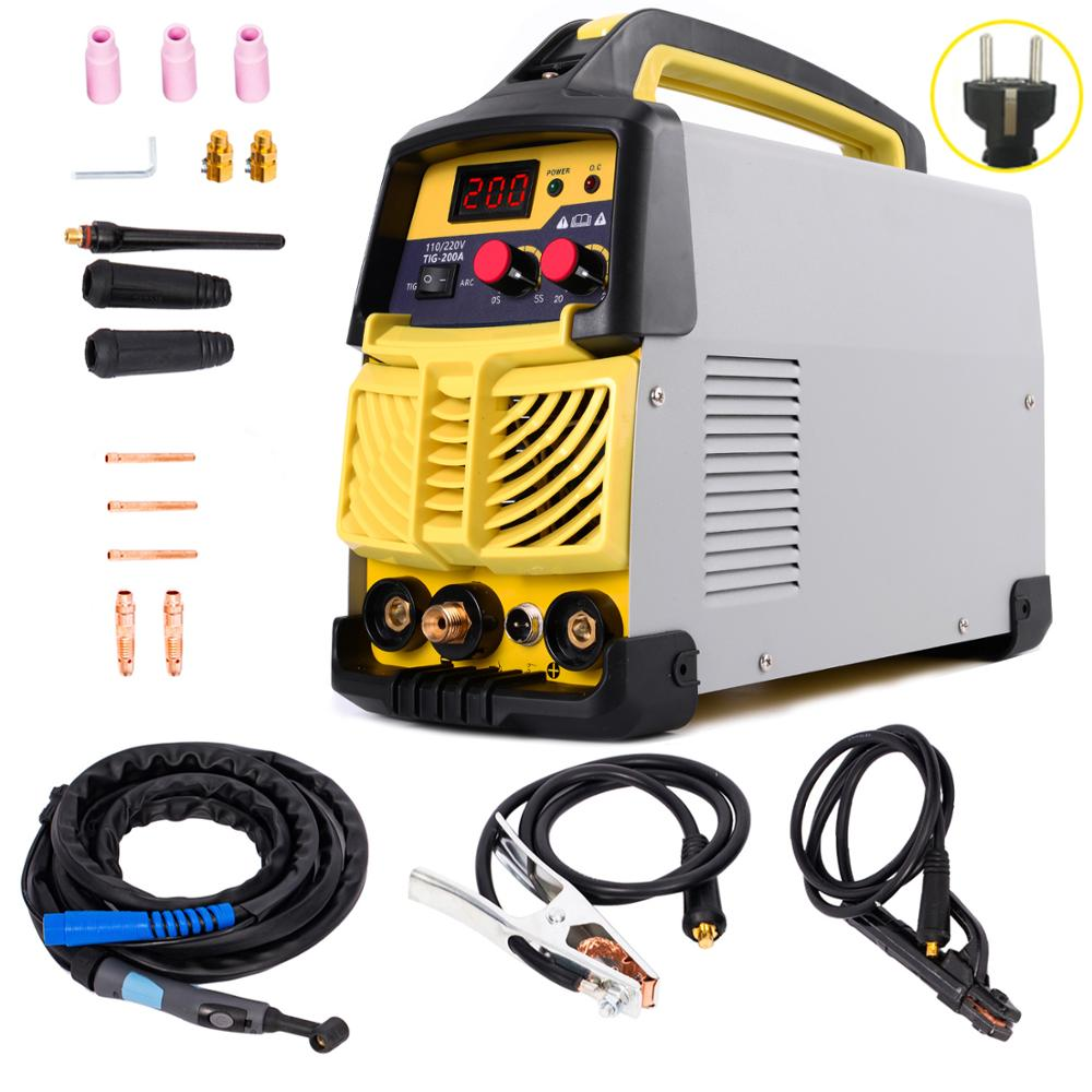 Welder, 200AMP TIG&ARC Portable Inverter Welder For Stainless Steel, Alloy Steel, Carbon Steel, Copper, Copper Alloy And Other