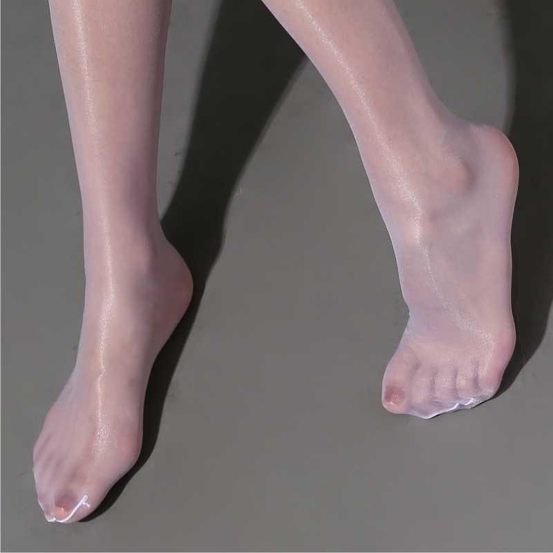 Bas rétro pailletés pour femmes, 7 couleurs, en Nylon, élastique, brillant, au dessus du genou, médias, Sexy