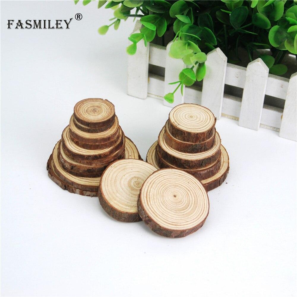 20Pcs Wooden MDF CIRCLES//SQUARE Art Craft Embellishments Scrapbooking DIY Accs