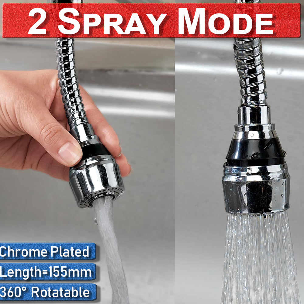 Kitchen Fixture 360 Rotate Water Saving Tap Faucet Swivel Faucet Adapter Nozzle Head Aerator Diffuser Faucet Nozzle 155mm D40