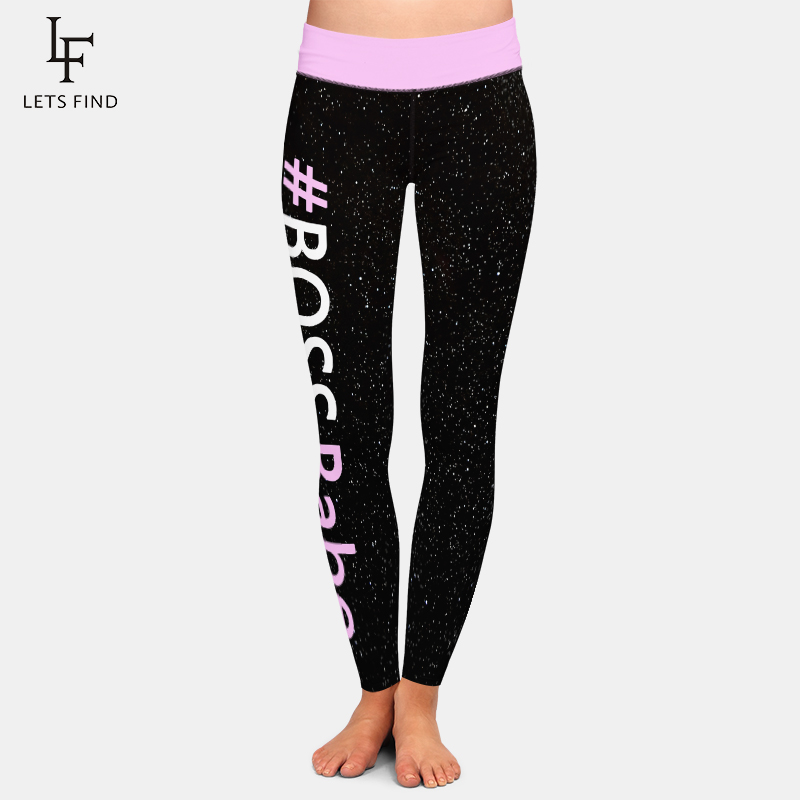 LETSFIND Fashion Women High Waist Plus Size Elastic Leggings High Quaility Soft Milk Silk Print Women Fitness Leggings