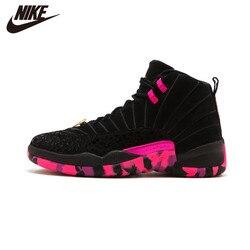 Original Nike Air Jordan 12 Doernbecher aj12 DB Charity Black Pink Men's Shoes -AH6987-023