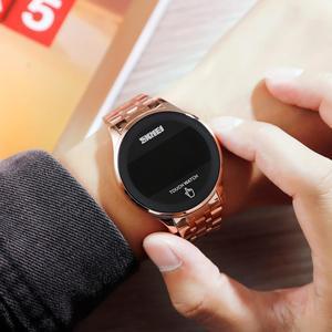 Image 3 - ספורט דיגיטלי שעון SKMEI מותג גברים של שעוני יוקרה נירוסטה גברים שעוני יד LED אור תצוגה אלקטרוני שעון צמיד