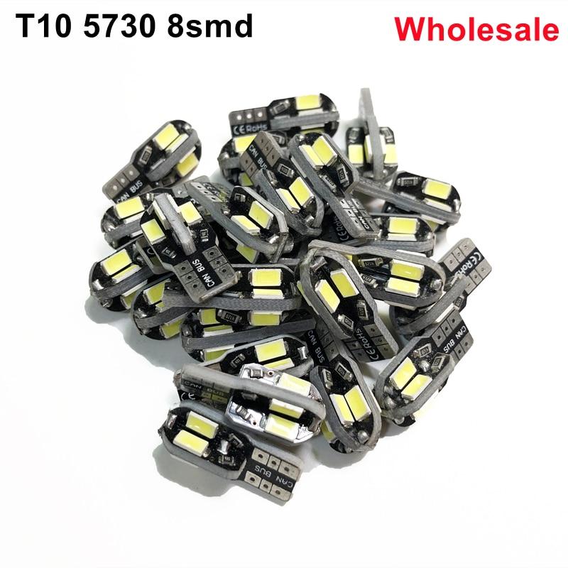 Оптовая продажа ошибок T10 W5W 194 светодиодный расклинивающий SL 501 авто светодиодный светильник 5730 canbus гирлянда для внутреннего купола номерно...