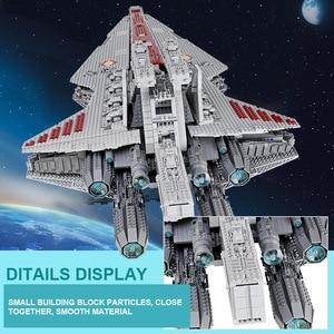 Image 5 - 05077 MOC Star Set Wars The UCS ST04 Republic Cruiser Star Destroyer Toys Building Blocks Bricks Kids Educational Gifts
