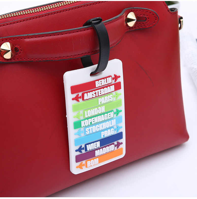 Nieuwe Koffer Bagage Draagbare Tags Identifier Label Id Adres Houder Bescherming Cover Bagagelabel Reizen Accessoires