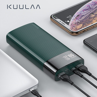 KUULAA 20000mAh Power Bank For iPhone Samsung Huawei Type C PD Fast Charging + Quick Charge 3.0 USB Powerbank External Battery